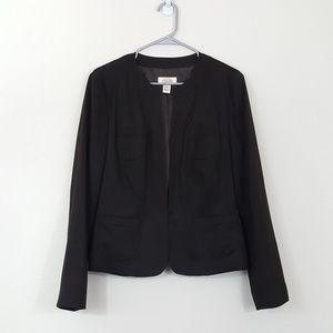 Talbots Faux Suede Dark Open Blazer Jacket 12